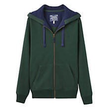 Buy Joules Hemsby Zip Hoody, Rugby Green Online at johnlewis.com
