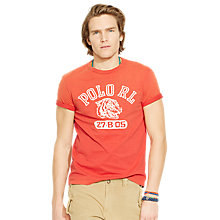Buy Polo Ralph Lauren Graphic Print Crew Neck T-Shirt Online at johnlewis.com