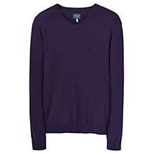 Buy Joules Retford V Neck Jumper, Blueberry Online at johnlewis.com