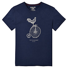 Buy Joules Harborough Bike Print T-Shirt, Dark Blue Marl Online at johnlewis.com