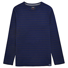 Buy Joules Breton Stripe Jersey Top, Navy Online at johnlewis.com