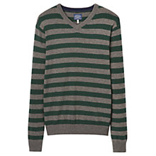 Buy Joules Retford Lambswool Blend Striped Jumper, Green Marl Online at johnlewis.com