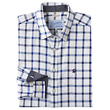 Buy Joules Wilby Check Cotton Shirt, Blue Overcheck Online at johnlewis.com