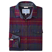 Buy Joules Buchanan Cotton Long Sleeve Shirt, Red Tartan Online at johnlewis.com