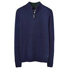 Buy Joules Langton Plain Half Zip Jumper, French Navy Online at johnlewis.com