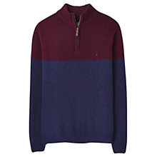 Buy Joules Langton Colour Block Half Zip Jumper, Fig Online at johnlewis.com