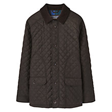 Buy Joules Denholm Quilted Jacket, Dark Brown Online at johnlewis.com