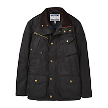 Buy Joules Lockhart Wax Biker Jacket, Black Online at johnlewis.com