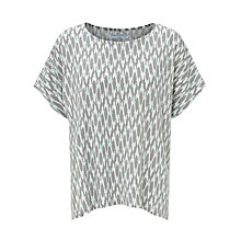 Buy John Lewis Capsule Collection Oversized Ikat Top, Spruce Green Online at johnlewis.com