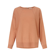 Buy Kin by John Lewis Reverse Seam Jumper, Apricot Online at johnlewis.com