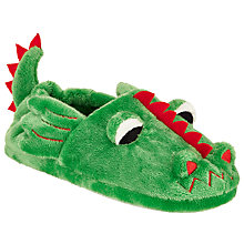 Buy John Lewis Green Monster Winged Slippers, Green/Red Online at johnlewis.com