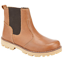 Buy John Lewis Children's Leather Chelsea Boots, Tan Online at johnlewis.com