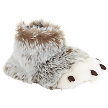 Buy John Lewis 3D Claw Boot Slippers, Brown/White Online at johnlewis.com