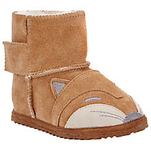 Buy John Lewis Fox Faux Fur Slippers, Brown Online at johnlewis.com