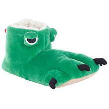 Buy John Lewis Monster Claw Slipper Boots, Green Online at johnlewis.com