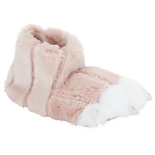 Buy John Lewis Unicorn Claw Slippers, Pink/White Online at johnlewis.com