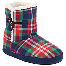 Buy John Lewis Slipper Boots, Tartan Online at johnlewis.com