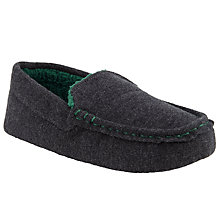 Buy John Lewis Moccasin Slippers, Grey Online at johnlewis.com