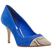 Buy Dune Bellina Stiletto Heeled Court Shoes, Blue Suede Online at johnlewis.com