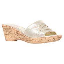 Buy Carvela Comfort Scamp Leather Sandals, Gold Online at johnlewis.com