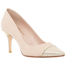 Buy Dune Bellina Stiletto Heeled Court Shoes, Blush Leather Online at johnlewis.com