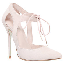 Buy Carvela Gordon Lace Up Cut Out Court Heels, Nude Online at johnlewis.com