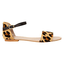 Buy Mint Velvet Zola Leopard Print Pony Sandals, Multi Online at johnlewis.com