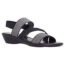 Buy Carvela Santorini Low Wedge Heeled Sandals, Black Online at johnlewis.com