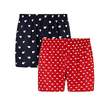 Buy John Lewis Christmas Pudding and Polar Bear Boxers, Pack of 2, Multi Online at johnlewis.com