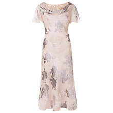 Buy Jacques Vert Floral Devore Dress, Champagne Online at johnlewis.com