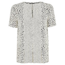 Buy Jaeger Opaque Panel Dot Dash Top, Ivory/Black Online at johnlewis.com