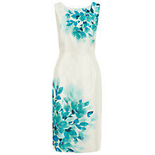 Buy Jacques Vert Placement Floral Dress, Multi Cream Online at johnlewis.com