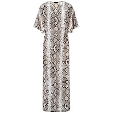 Buy Jaeger Silk Python Print Maxi Dress, Natural Online at johnlewis.com