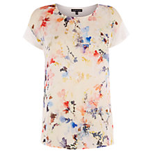 Buy Warehouse Watercolour Floral Print Top, Multi Online at johnlewis.com