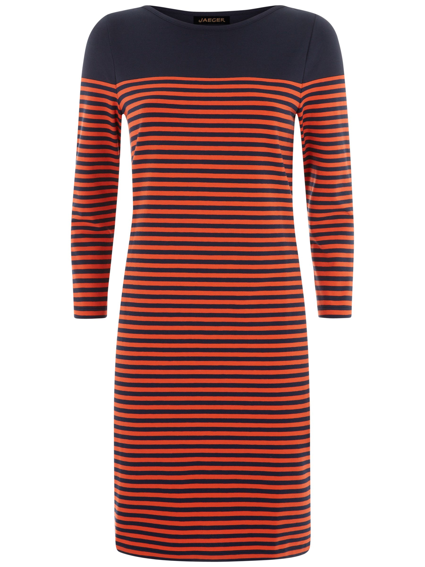 jaeger breton stripe dress navy
