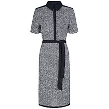 Buy Jaeger Linen Shirt Dress, Navy/White Online at johnlewis.com