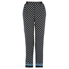 Buy Warehouse Geo Border Hem Trousers, Multi Online at johnlewis.com