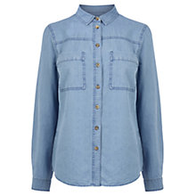 Buy Warehouse Utility Denim Shirt, Light Wash Online at johnlewis.com
