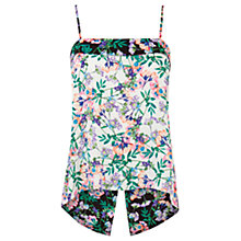 Buy Warehouse Floral Split Back Cami, Multi Online at johnlewis.com