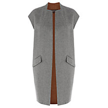Buy Warehouse Sleeveless Waistcoat, Dark Grey Online at johnlewis.com