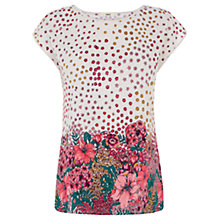 Buy Oasis Bloom Border Print T-Shirt Online at johnlewis.com