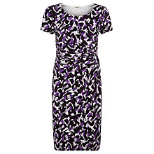 Buy Precis Petite Brushstroke Print Jersey Dress, Multi Purple Online at johnlewis.com