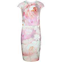 Buy Ted Baker New Rose Fitted Dress, Pink Online at johnlewis.com