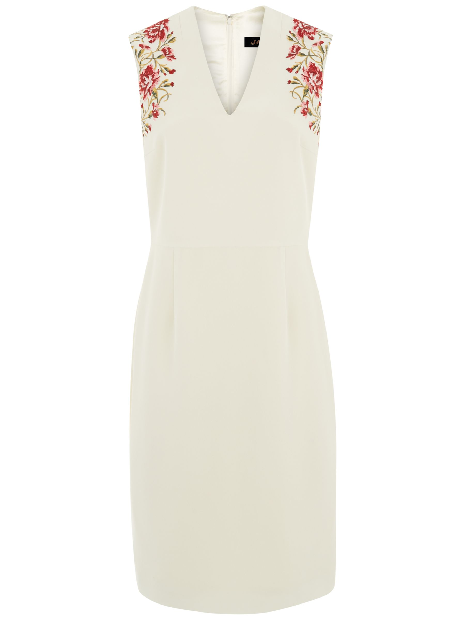 jaeger embroidery dress white/pink, jaeger, embroidery, dress, white/pink, 6|18|14|12|8|16|10, women, womens dresses, gifts, wedding, wedding clothing, female guests, 1901333