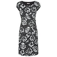 Buy Precis Petite Floral Spot Jersey Dress, Monochrome Online at johnlewis.com