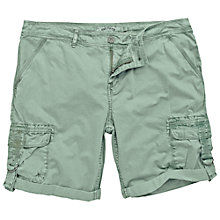 Buy Fat Face Combat Turn Up Shorts, Light Birch Online at johnlewis.com