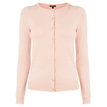 Buy Warehouse Crew Cardigan, Light Pink Online at johnlewis.com