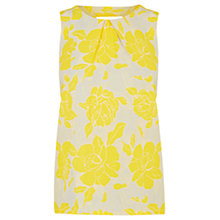 Buy Warehouse Large Stencil Rose Shell Top, Yellow Online at johnlewis.com