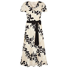 Buy Jacques Vert Shadow Floral Devore Dress, Cream Online at johnlewis.com