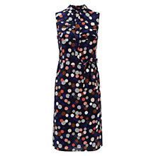 Buy Hobbs Orla Spot Dress, Navy Multi Online at johnlewis.com